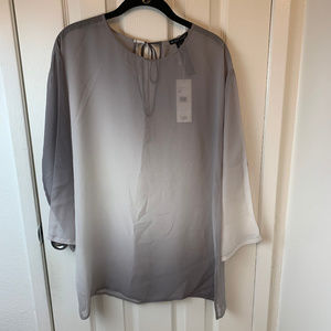 NWT Eileen Fisher Gray Water Color Silk Tunic.